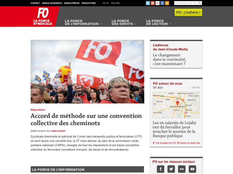 FO- Page d'accueil
